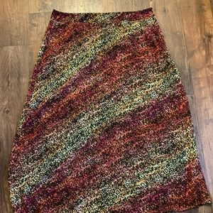 DELETING Cato colorful animal print maxi skirt